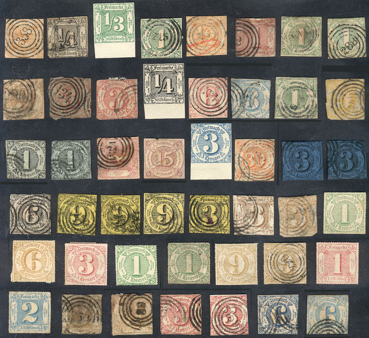 Lot 16 - germany thurn and taxis -  Guillermo Jalil - Philatino Auction # 1911 WORLDWIDE + ARGENTINA: General March auction!