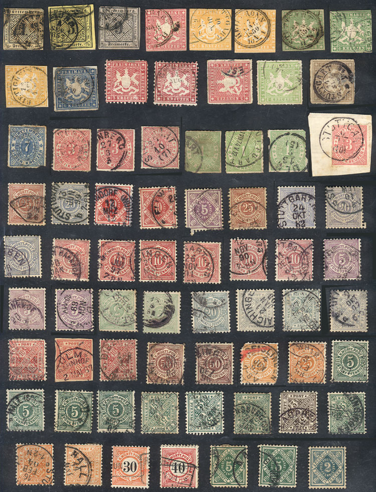 Lot 18 - germany Wurttemberg -  Guillermo Jalil - Philatino Auction # 1911 WORLDWIDE + ARGENTINA: General March auction!