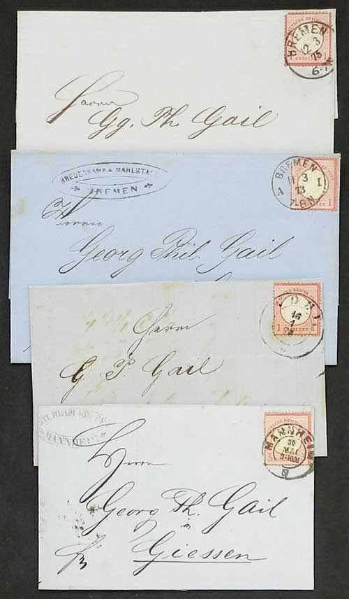 Lot 21 - germany postal history -  Guillermo Jalil - Philatino Auction # 1911 WORLDWIDE + ARGENTINA: General March auction!