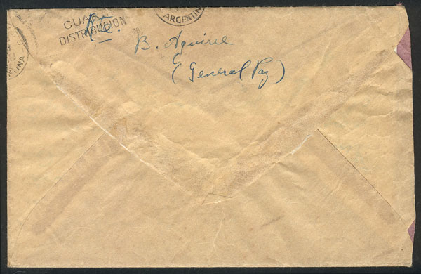 Lot 1446 - Argentina postal history -  Guillermo Jalil - Philatino Auction # 1913 ARGENTINA: