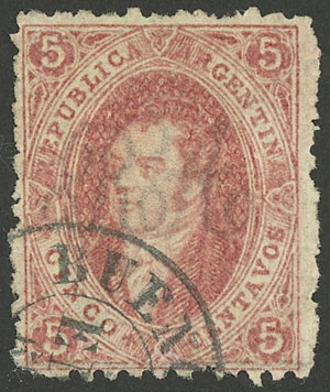 Lot 15 - Argentina rivadavias -  Guillermo Jalil - Philatino Auction # 1914 ARGENTINA: small but very attractive auction