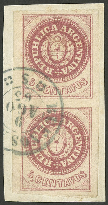 Lot 11 - Argentina escuditos -  Guillermo Jalil - Philatino Auction # 1914 ARGENTINA: small but very attractive auction