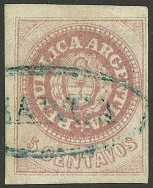 Lot 10 - Argentina escuditos -  Guillermo Jalil - Philatino Auction # 1914 ARGENTINA: small but very attractive auction