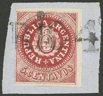 Lot 12 - Argentina escuditos -  Guillermo Jalil - Philatino Auction # 1914 ARGENTINA: small but very attractive auction