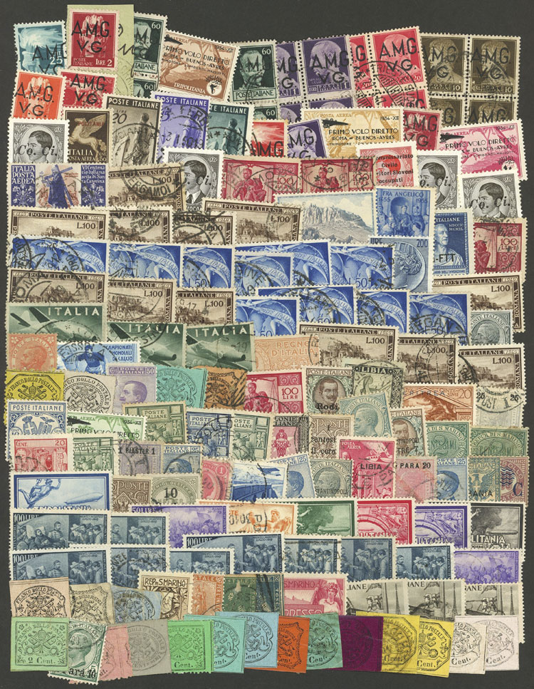 Lot 652 - italy + colonies Lots and Collections -  Guillermo Jalil - Philatino Auction # 1915 WORLDWIDE + ARGENTINA: Special April Auction