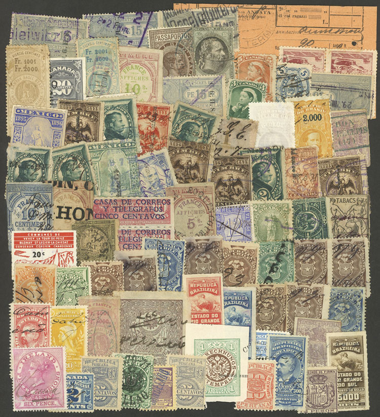 Lot 883 - worldwide revenue stamps -  Guillermo Jalil - Philatino Auction # 1915 WORLDWIDE + ARGENTINA: Special April Auction