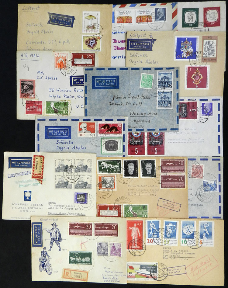 Lot 113 - east germany postal history -  Guillermo Jalil - Philatino Auction # 1915 WORLDWIDE + ARGENTINA: Special April Auction
