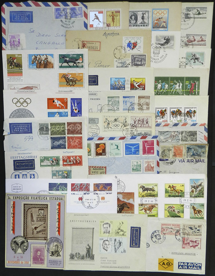 Lot 7 - topic sport postal history -  Guillermo Jalil - Philatino Auction # 1915 WORLDWIDE + ARGENTINA: Special April Auction