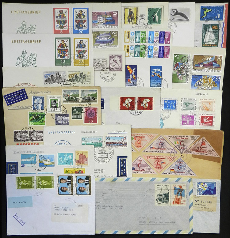 Lot 9 - topic sport postal history -  Guillermo Jalil - Philatino Auction # 1915 WORLDWIDE + ARGENTINA: Special April Auction