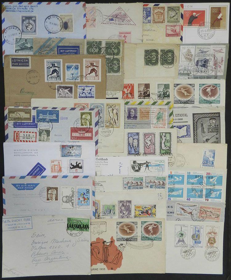 Lot 8 - topic sport postal history -  Guillermo Jalil - Philatino Auction # 1915 WORLDWIDE + ARGENTINA: Special April Auction