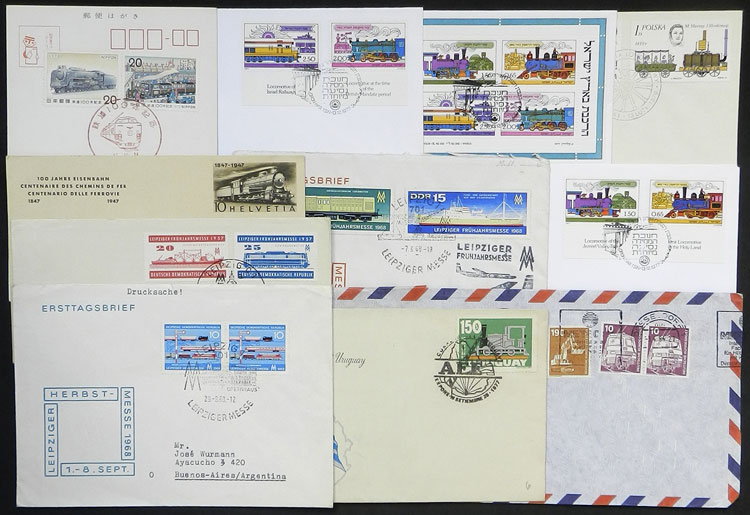 Lot 21 - topic trains postal history -  Guillermo Jalil - Philatino Auction # 1915 WORLDWIDE + ARGENTINA: Special April Auction