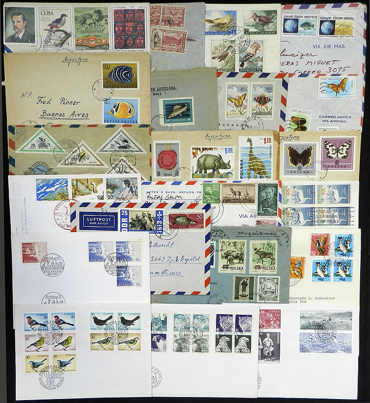 Lot 10 - topic fauna postal history -  Guillermo Jalil - Philatino Auction # 1915 WORLDWIDE + ARGENTINA: Special April Auction
