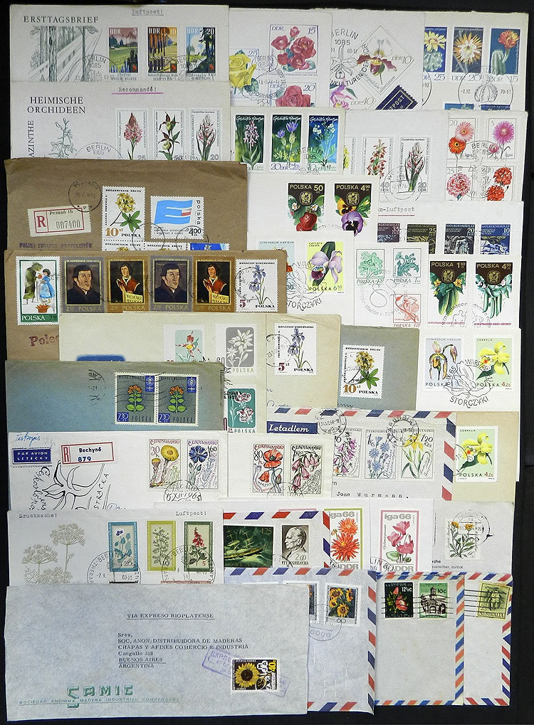Lot 17 - TOPIC FLORA / FLOWERS postal history -  Guillermo Jalil - Philatino Auction # 1915 WORLDWIDE + ARGENTINA: Special April Auction
