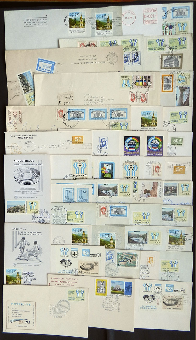 Lot 18 - TOPIC FOOTBALL/SOCCER postal history -  Guillermo Jalil - Philatino Auction # 1915 WORLDWIDE + ARGENTINA: Special April Auction