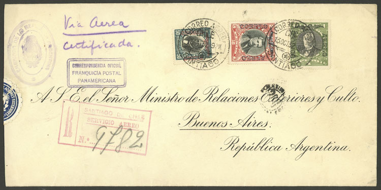 Lot 391 - Chile postal history -  Guillermo Jalil - Philatino Auction # 1915 WORLDWIDE + ARGENTINA: Special April Auction