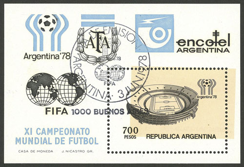 Lot 222 - Argentina souvenir sheets -  Guillermo Jalil - Philatino Auction # 1915 WORLDWIDE + ARGENTINA: Special April Auction