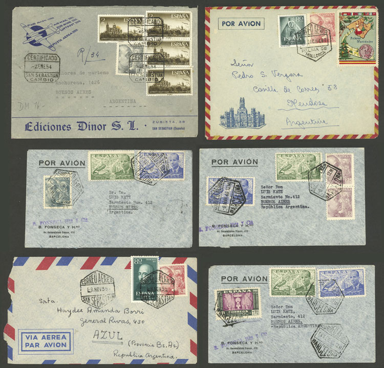 Lot 443 - Spain postal history -  Guillermo Jalil - Philatino Auction # 1915 WORLDWIDE + ARGENTINA: Special April Auction
