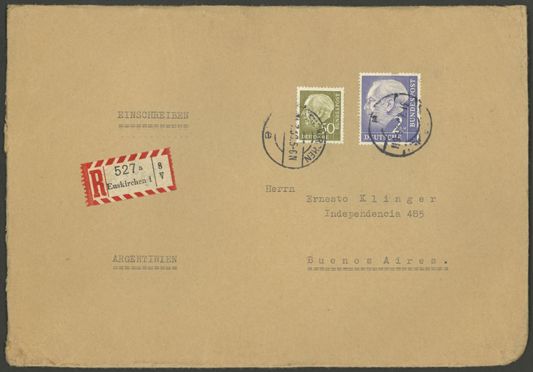 Lot 63 - germany postal history -  Guillermo Jalil - Philatino Auction # 1915 WORLDWIDE + ARGENTINA: Special April Auction