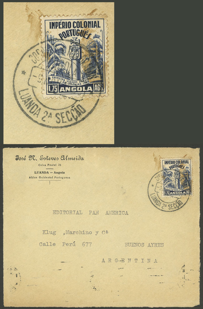 Lot 119 - angola postal history -  Guillermo Jalil - Philatino Auction # 1915 WORLDWIDE + ARGENTINA: Special April Auction