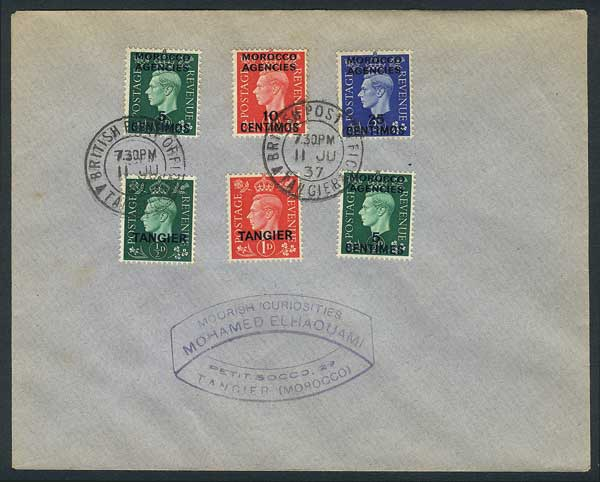 Lot 692 - british morocco postal history -  Guillermo Jalil - Philatino Auction # 1915 WORLDWIDE + ARGENTINA: Special April Auction