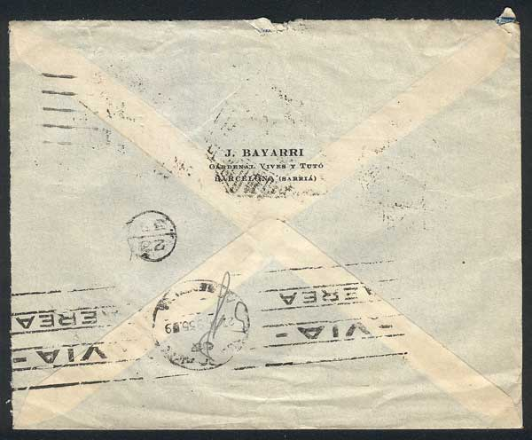 Lot 445 - Spain postal history -  Guillermo Jalil - Philatino Auction # 1915 WORLDWIDE + ARGENTINA: Special April Auction