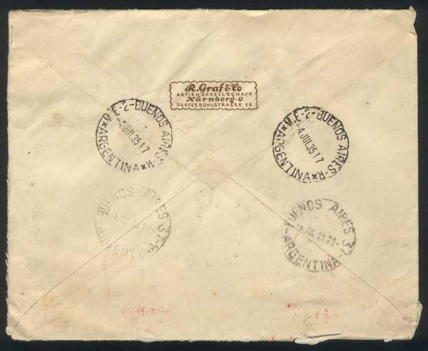 Lot 47 - germany postal history -  Guillermo Jalil - Philatino Auction # 1915 WORLDWIDE + ARGENTINA: Special April Auction