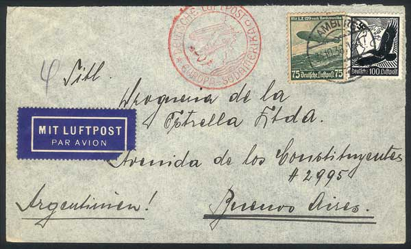 Lot 52 - germany postal history -  Guillermo Jalil - Philatino Auction # 1915 WORLDWIDE + ARGENTINA: Special April Auction