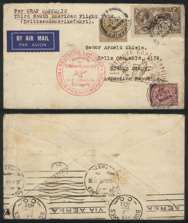 Lot 522 - Great Britain postal history -  Guillermo Jalil - Philatino Auction # 1915 WORLDWIDE + ARGENTINA: Special April Auction