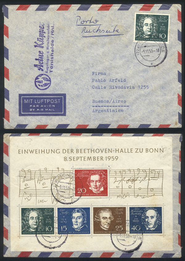 Lot 61 - germany postal history -  Guillermo Jalil - Philatino Auction # 1915 WORLDWIDE + ARGENTINA: Special April Auction