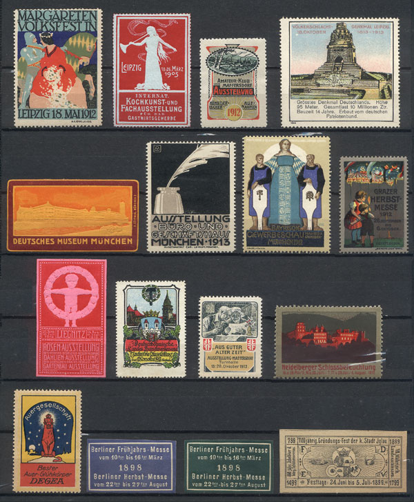 Lot 106 - germany cinderellas -  Guillermo Jalil - Philatino Auction # 1915 WORLDWIDE + ARGENTINA: Special April Auction