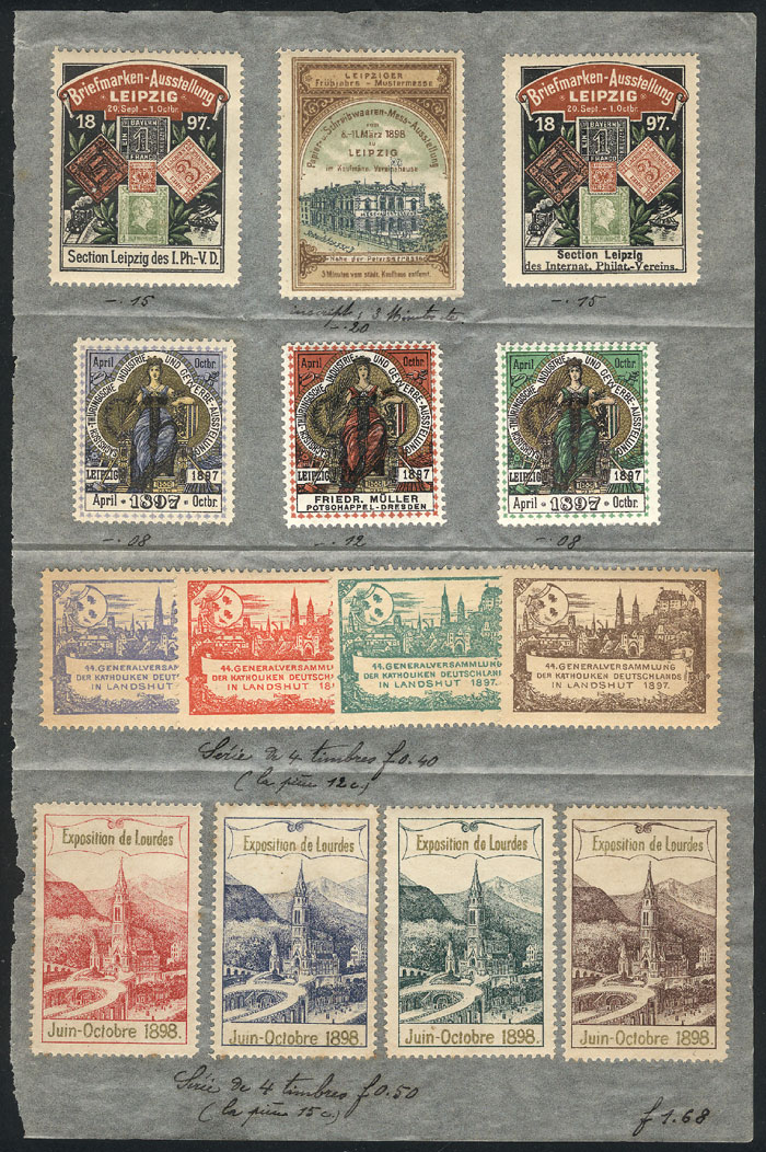 Lot 104 - germany cinderellas -  Guillermo Jalil - Philatino Auction # 1915 WORLDWIDE + ARGENTINA: Special April Auction