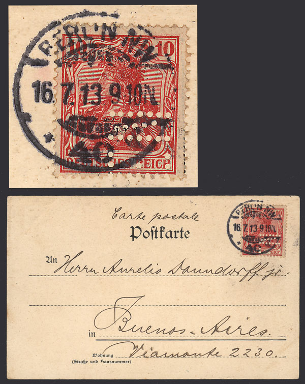 Lot 33 - germany postal history -  Guillermo Jalil - Philatino Auction # 1915 WORLDWIDE + ARGENTINA: Special April Auction