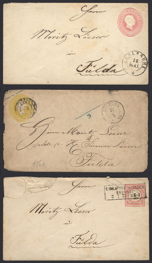 Lot 31 - germany postal history -  Guillermo Jalil - Philatino Auction # 1915 WORLDWIDE + ARGENTINA: Special April Auction