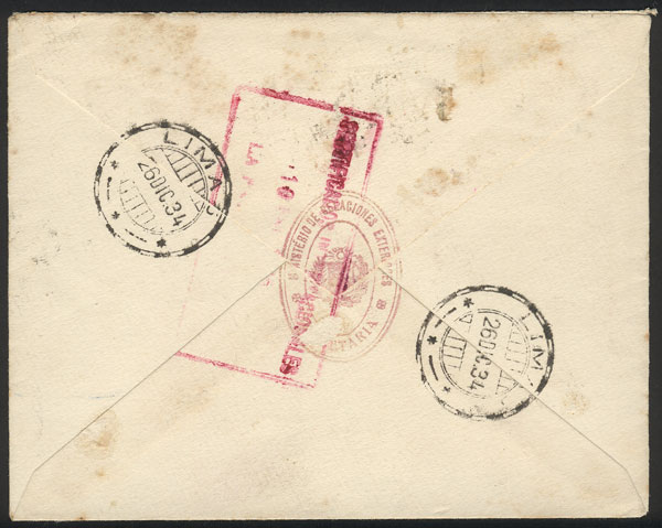 Lot 766 - Peru official stamps -  Guillermo Jalil - Philatino Auction # 1915 WORLDWIDE + ARGENTINA: Special April Auction