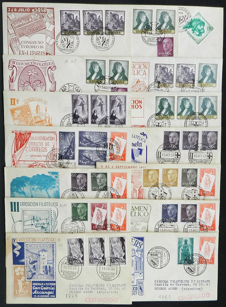 Lot 451 - Spain Lots and Collections -  Guillermo Jalil - Philatino Auction # 1915 WORLDWIDE + ARGENTINA: Special April Auction
