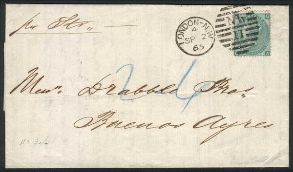 Lot 516 - Great Britain postal history -  Guillermo Jalil - Philatino Auction # 1915 WORLDWIDE + ARGENTINA: Special April Auction