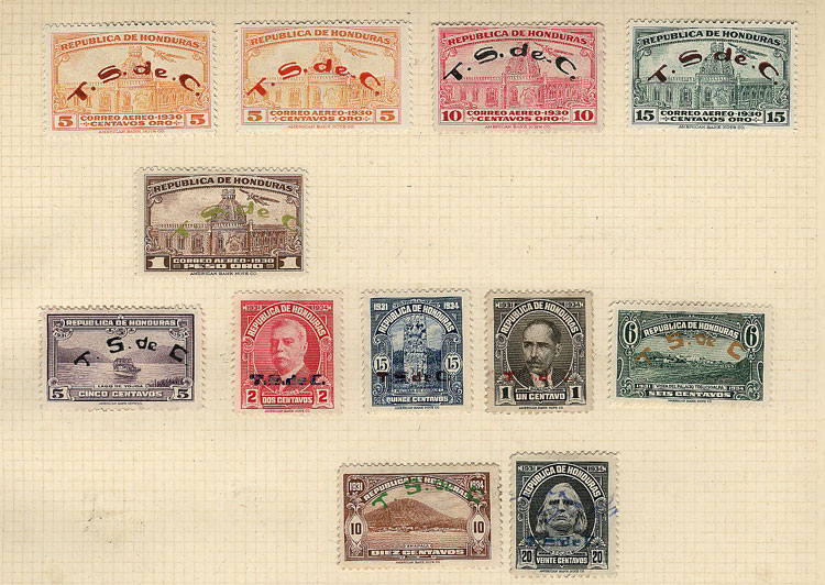 Lot 548 - Honduras Lots and Collections -  Guillermo Jalil - Philatino Auction # 1915 WORLDWIDE + ARGENTINA: Special April Auction