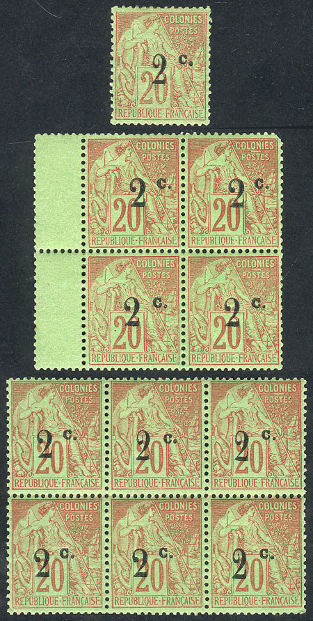 Lot 496 - FRANCE - REUNION general issues -  Guillermo Jalil - Philatino Auction # 1915 WORLDWIDE + ARGENTINA: Special April Auction