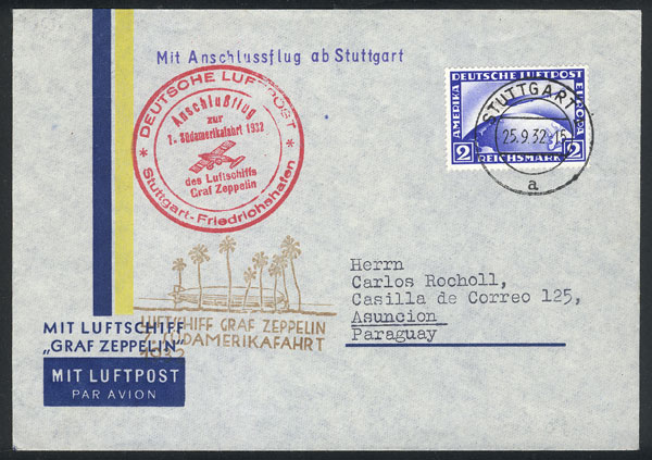 Lot 44 - germany postal history -  Guillermo Jalil - Philatino Auction # 1915 WORLDWIDE + ARGENTINA: Special April Auction