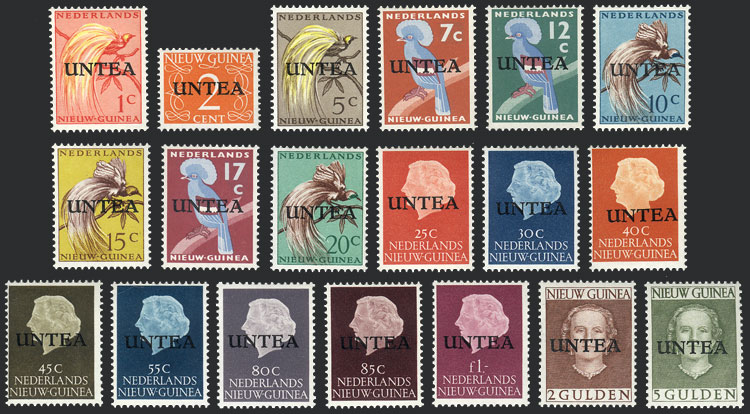 Lot 710 - netherlands new guinea general issues -  Guillermo Jalil - Philatino Auction # 1915 WORLDWIDE + ARGENTINA: Special April Auction