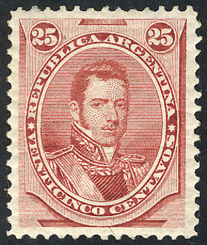 Lot 106 - Argentina general issues -  Guillermo Jalil - Philatino Auction # 1918 ARGENTINA: