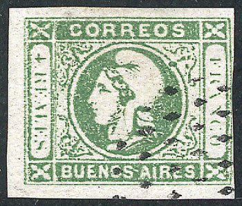 Lot 6 - Argentina cabecitas -  Guillermo Jalil - Philatino Auction # 1918 ARGENTINA: