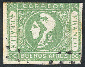 Lot 7 - Argentina cabecitas -  Guillermo Jalil - Philatino Auction # 1918 ARGENTINA: