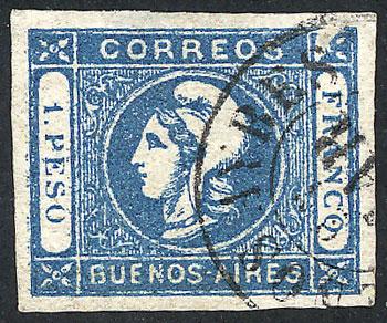 Lot 10 - Argentina cabecitas -  Guillermo Jalil - Philatino Auction # 1918 ARGENTINA: