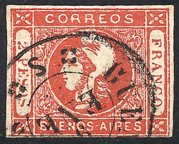 Lot 11 - Argentina cabecitas -  Guillermo Jalil - Philatino Auction # 1918 ARGENTINA: