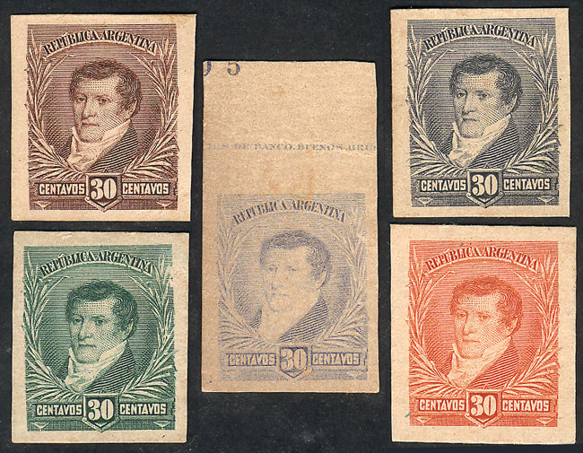 Lot 214 - Argentina general issues -  Guillermo Jalil - Philatino Auction # 1918 ARGENTINA: