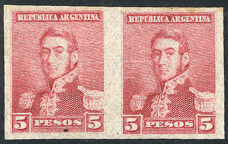 Lot 203 - Argentina general issues -  Guillermo Jalil - Philatino Auction # 1918 ARGENTINA: