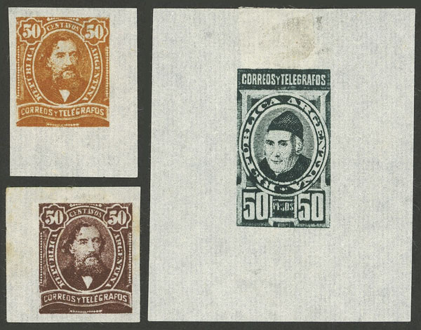 Lot 128 - Argentina general issues -  Guillermo Jalil - Philatino Auction # 1918 ARGENTINA: