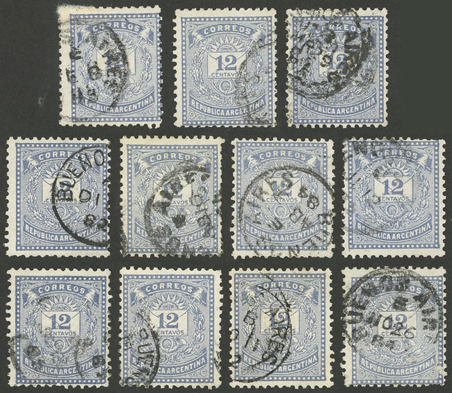 Lot 107 - Argentina general issues -  Guillermo Jalil - Philatino Auction # 1918 ARGENTINA: