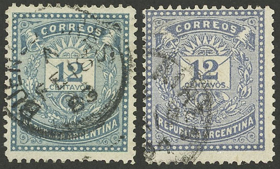 Lot 109 - Argentina general issues -  Guillermo Jalil - Philatino Auction # 1918 ARGENTINA: